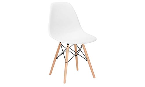 Poly and Bark Vortex Side Chair, Aqua