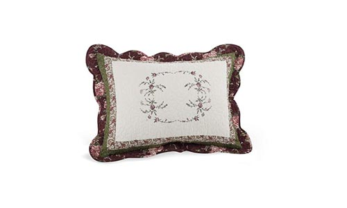 Modern Heirloom Collection Brooke Cotton Filled Standard Sham, 20 by 26-Inch