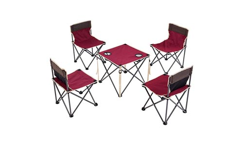 Costzon Portable Camping Set of Table and Chair