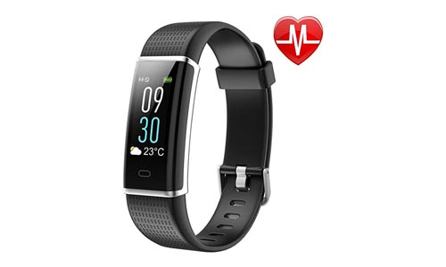 Letson Fitness Tracker, Heart Rate Monitor Watch Color Screen, Ip68 Waterproof, Step Counter, Calorie Counter, Sleep Monitor, Pedometer, SmartWatch, Kids, Women, and Men