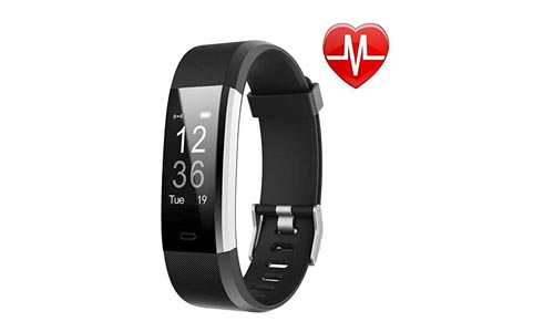 Letson Fitness Tracker HR, Activity Tracker Watch Heart Rate Monitor, Waterproof Smart Fitness Band Step Counter, Calorie Counter, Pedometer Watch Kids, Women, Men, Android Ios