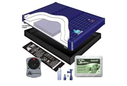 95% Waveless Waterbed Mattress/Liner/Heater/Pad/Fill Drain/Conditioner Kit (Queen 60x84 1l3b2)